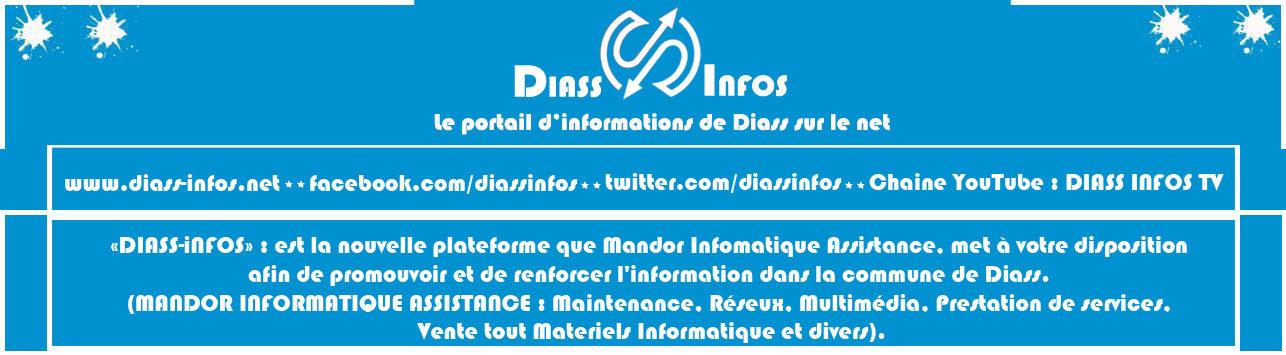 Diass-Infos Radio Tv : le portail d'informations de Diass sur le net, Premier site d'actualité de Diass au Sénégal.