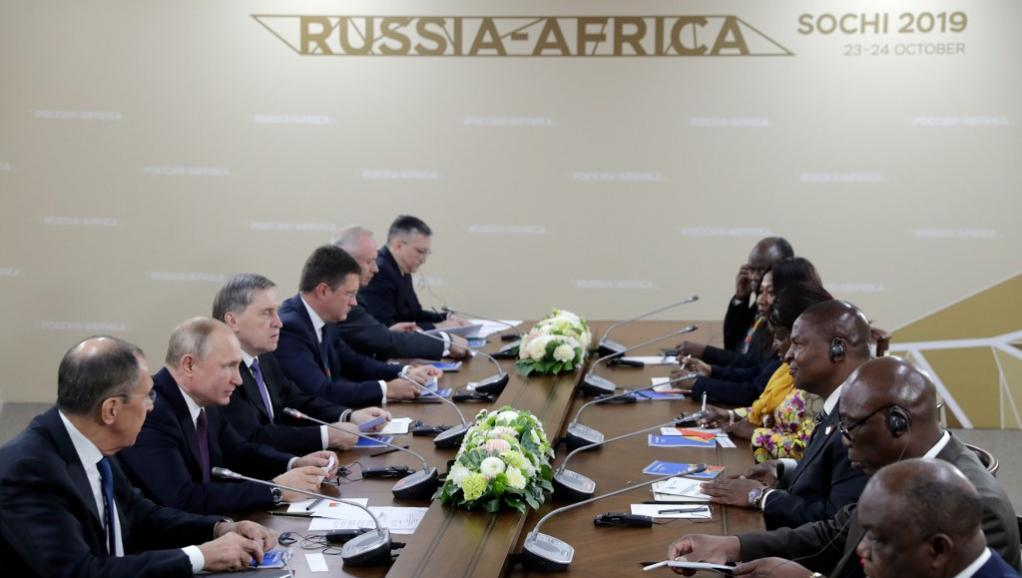 Sotchi: Moscou affiche ses ambitions africaines