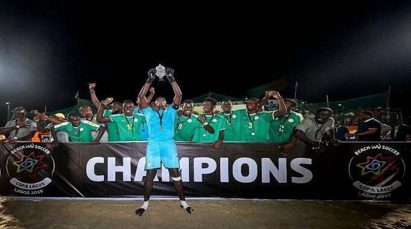 SPORT : Beach Soccer Le Sénégal bat l'Angleterre et remporte le trophée de la Copa Lagos 2019