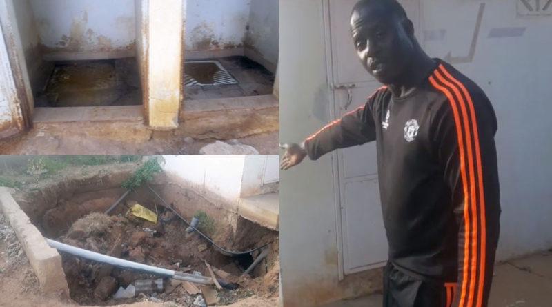 TOILETTES IMPRATICABLES ET FOSSE SCEPTIQUE AFFAISSÉE : DEMBA DIOUMA FAYE SENT MAUVAIS