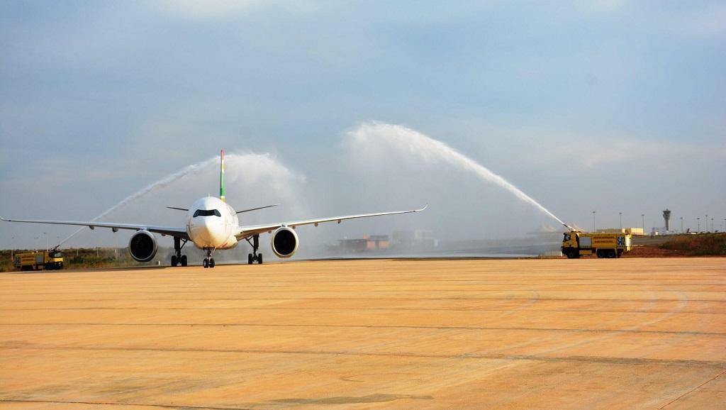 Réception du deuxième A330 NEO d'Air Sénégal à l'aéroport Dakar Blaise Diagne de Diass.