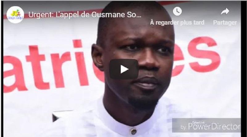 Sonko Brûle Macky Sall Et Appelle Les Sénégalais À Se Mobiliser Contre Le Régime
